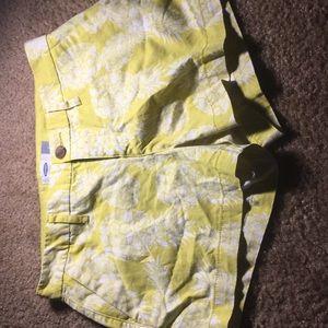 Yellow cargo shorts
